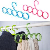 Save Space Hanger 5 Ring Slots Clothing Shawl Scarf Belt ...
