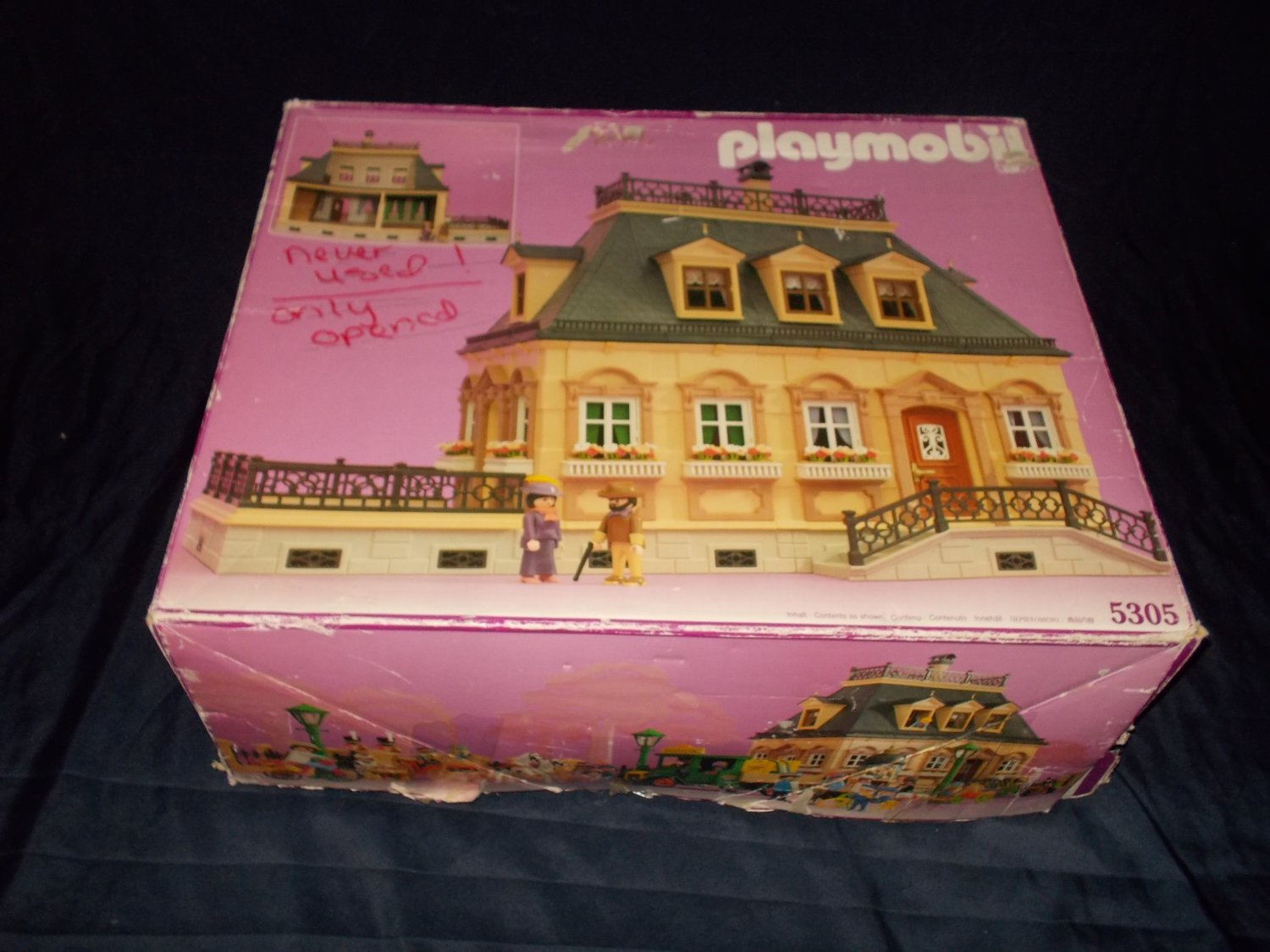 Dollhouse Playmobil Vintage 1990 Playmobil Victorian Mansion Dollhouse 5305 Complete