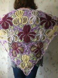 Irish crochet shawl....Iris lace wrap