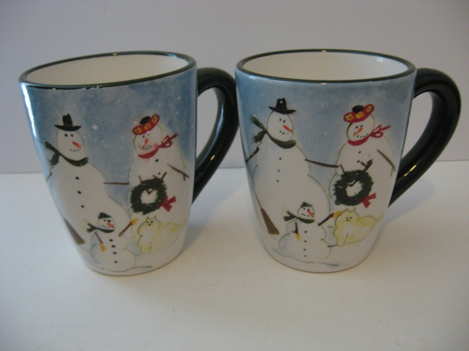 Large Coffee Mug Sets Snow Family Design Large Coffee Mugs Set Of 2