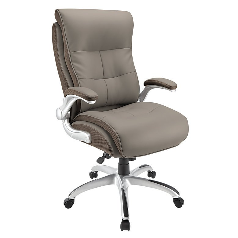 Sessel Taupe Realspace Ampresso Big & Tall Bonded Leather High-back