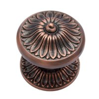 """""Manoah"""" Decorative Brass Door Knob with Rose - Antique ..."