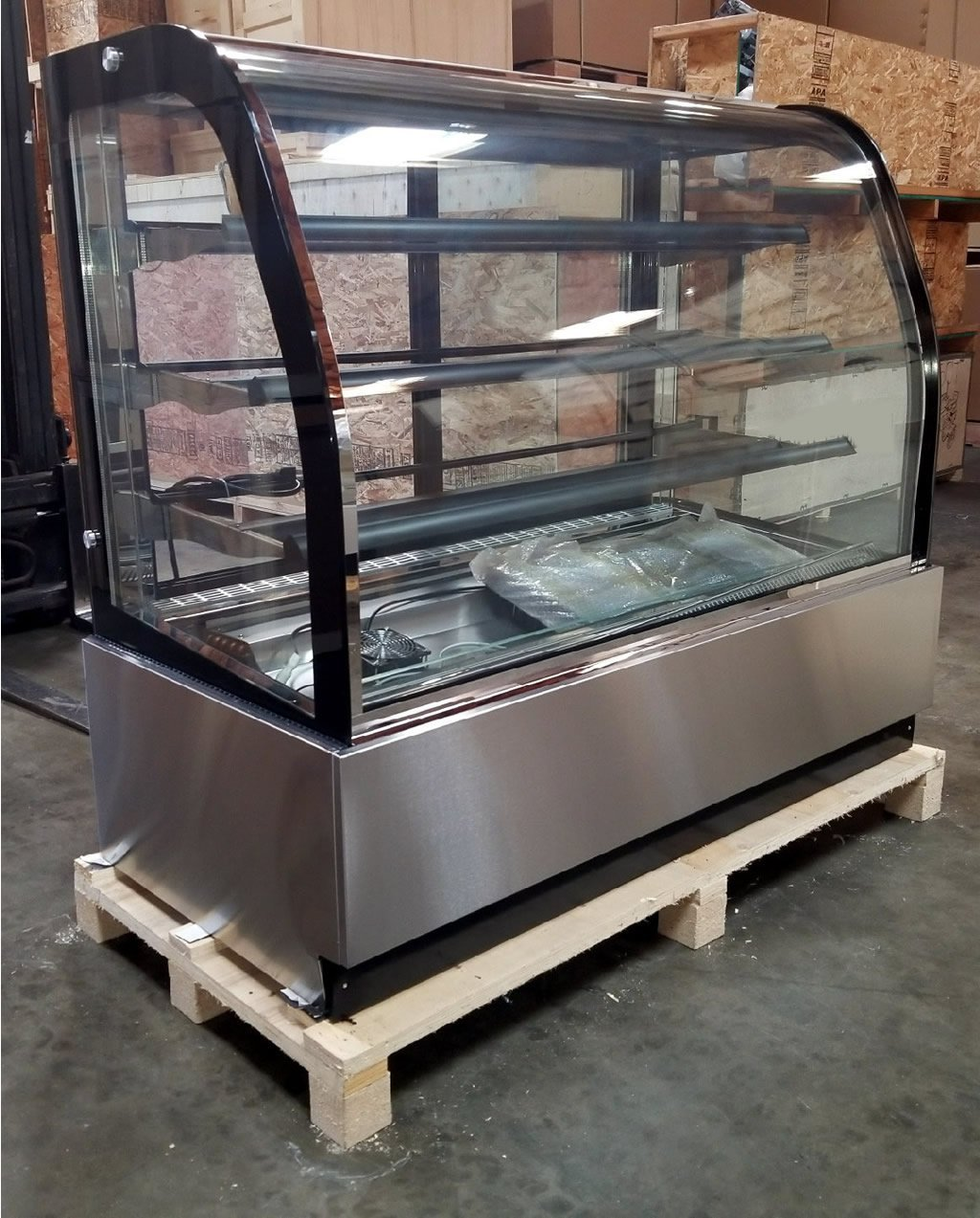 Countertop Bakery Case 59 Quot Curved Glass Bakery Countertop Refrigerator Display