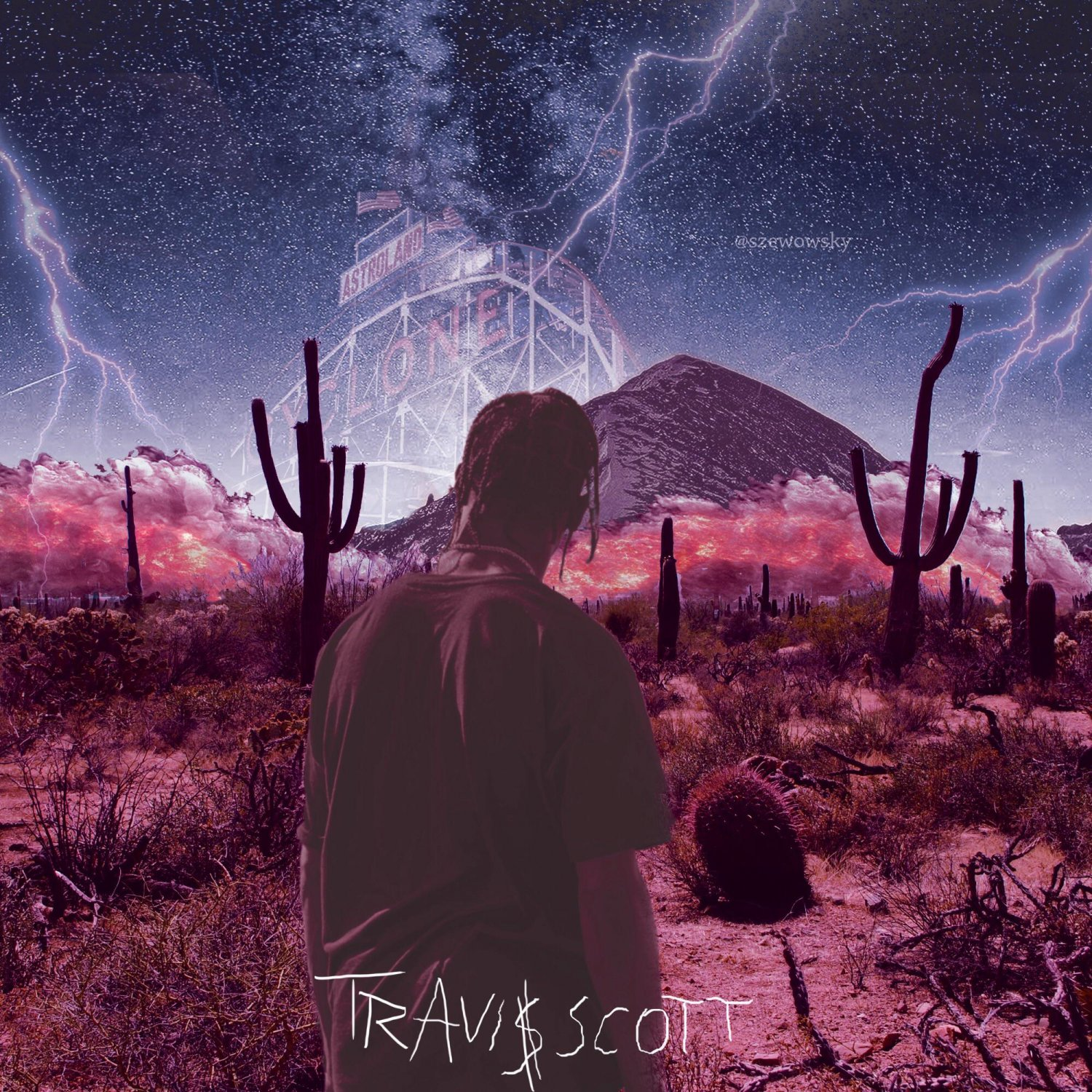 12x12 Poster Travis Scott Astroworld Poster 12x12 Inches