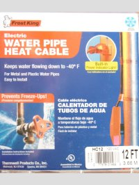 Thermwell Frost King HC12 Electric Water Pipe Heat Tape 12 ...