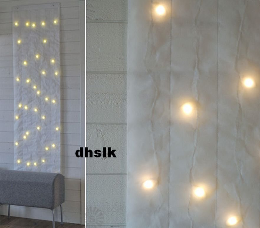 Ikea Holiday Hours Ikea Kallt Wall Decoration 40 Bulbs White Xmas Fabric Led
