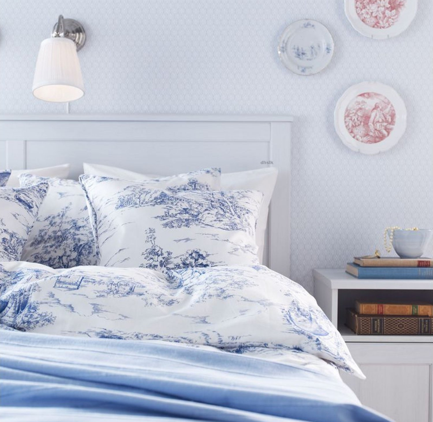 Ikea Doona Ikea Emmie Land Queen Duvet Cover Pillowcases Set Blue
