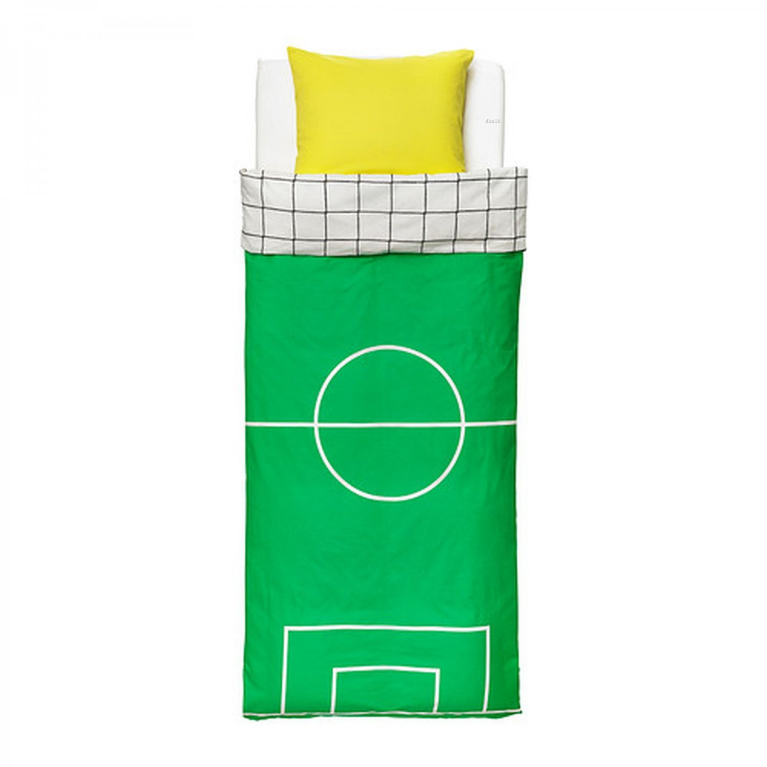 Dekbedovertrek Voetbal Ikea Spelplan Soccer Field Twin Duvet Cover Pillowcase Set