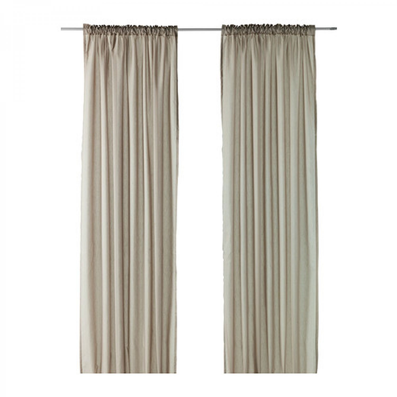 Curtain Ikea Ikea Vivan Curtains Drapes Beige 2 Panels Mushroom Taupe