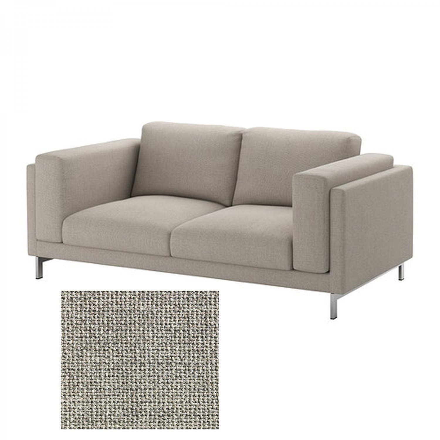 2 Seater Ikea Sofa Cover Ikea Nockeby Slipcover 2 Seat Loveseat Cover Teno Light Gray Tenà Grey