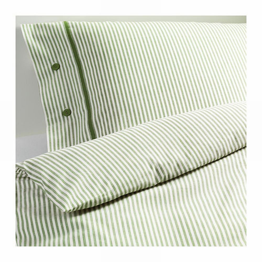 Ikea King Duvet Cover Ikea Nyponros King Duvet Cover Set Ticking Stripes Green