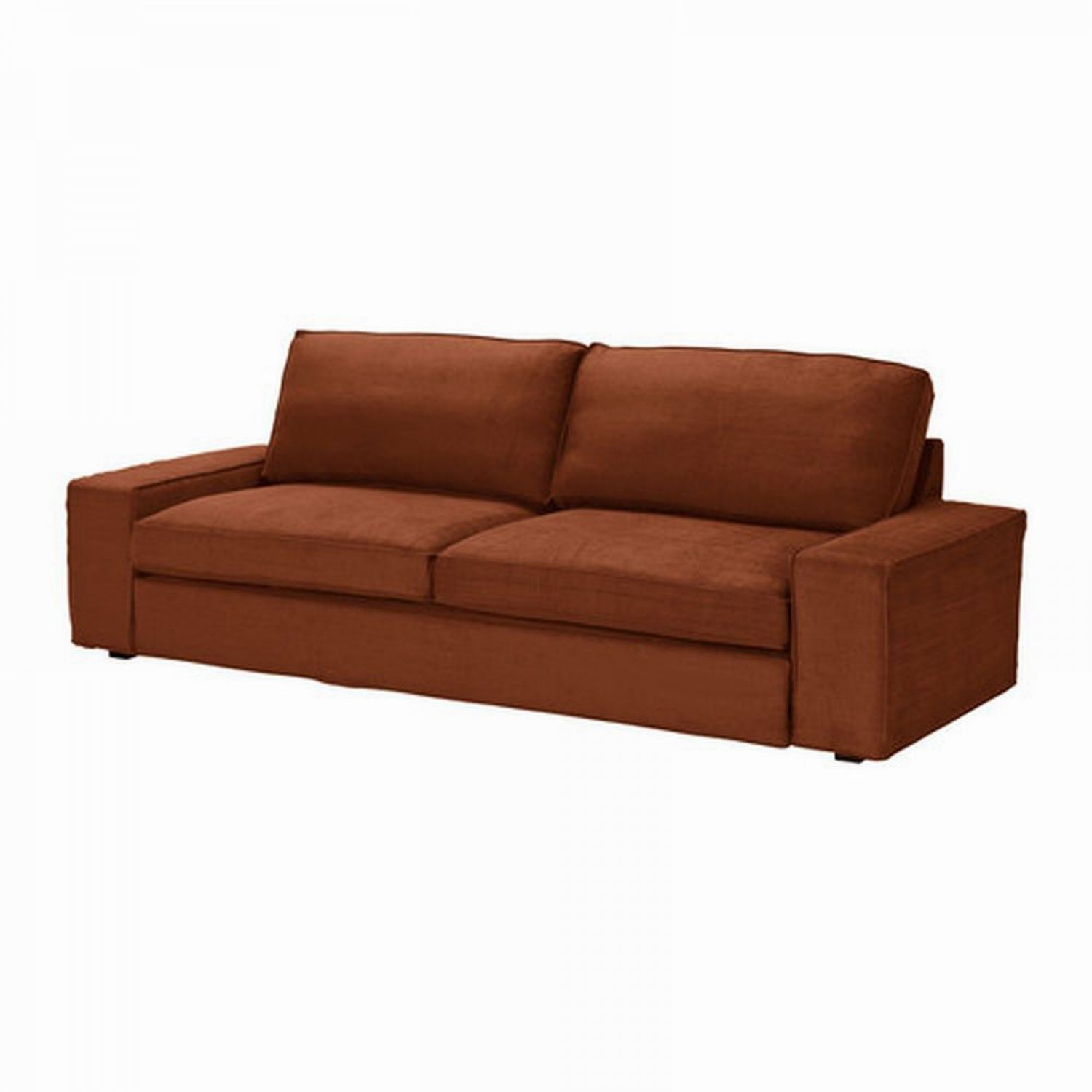 Kivik Sofa Ikea Test Ikea Kivik Sofa Bed Slipcover Cover Tullinge Rust Brown