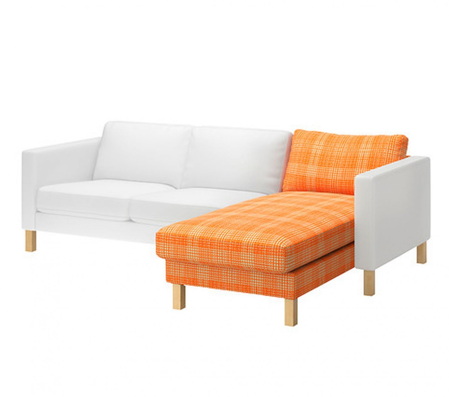 Chaise Orange Ikea Ikea Karlstad Add On Chaise Longue Slipcover Cover Husie