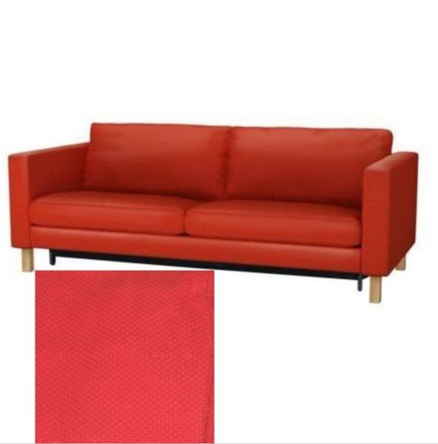 Ikea Sofa 179 Euro Ikea Karlstad Sofa Bed Sofabed Slipcover Cover Korndal Red