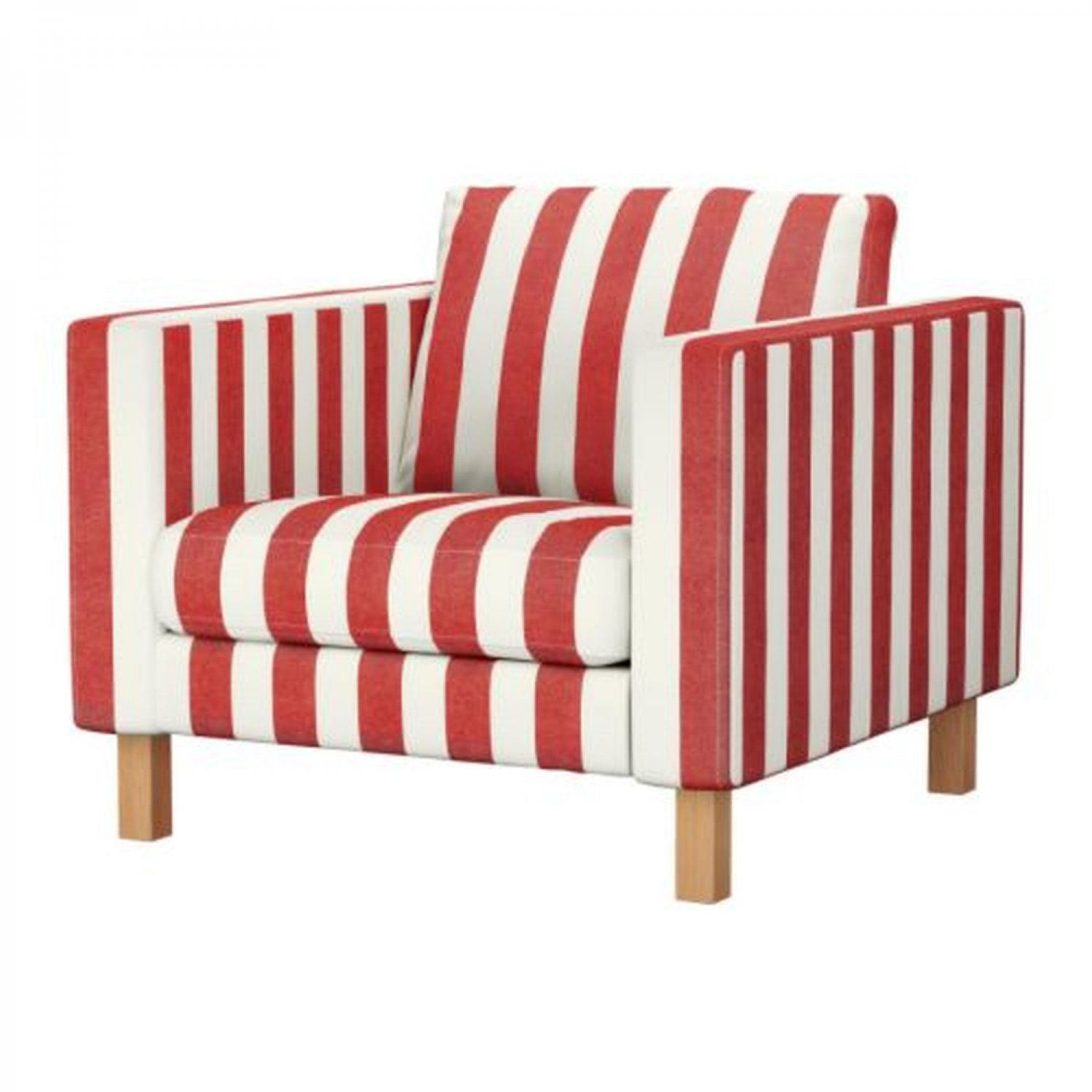 Red Striped Chair Ikea Karlstad Armchair Slipcover Chair Cover Rannebo Red