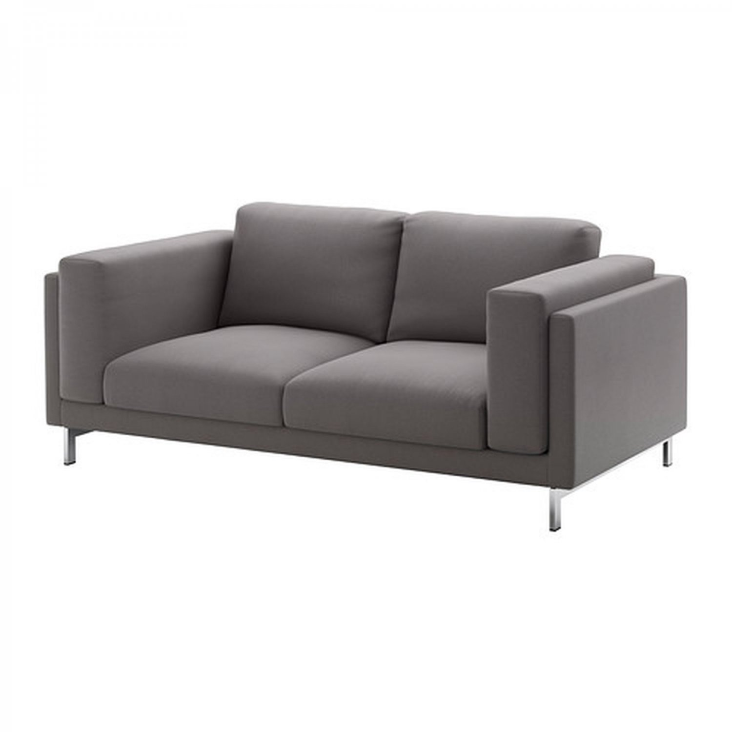 Ikea Loveseat Ikea Nockeby 2 Seat Sofa Slipcover Loveseat Cover Risane Gray Grey Linen Blend