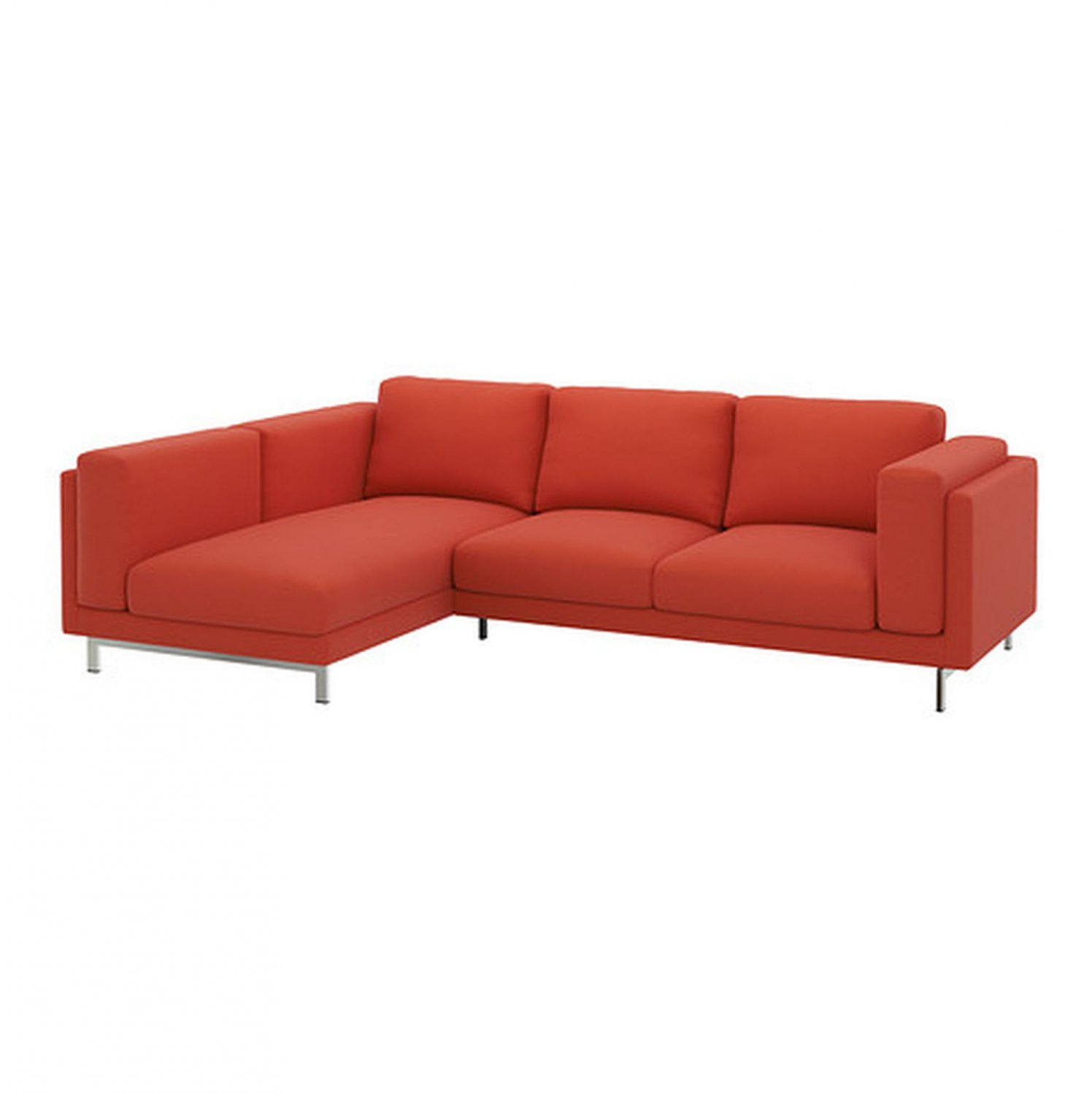 Chaise Orange Ikea Ikea Nockeby Slipcover Loveseat W Chaise Left Cover Risane