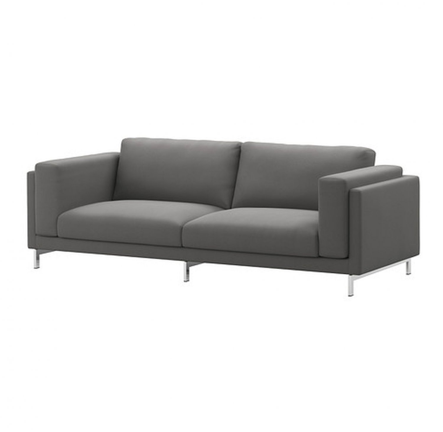 Ikea Nockeby Two Seat Sofa Ikea Nockeby 3 Seat Sofa Slipcover Cover Risane Gray Grey