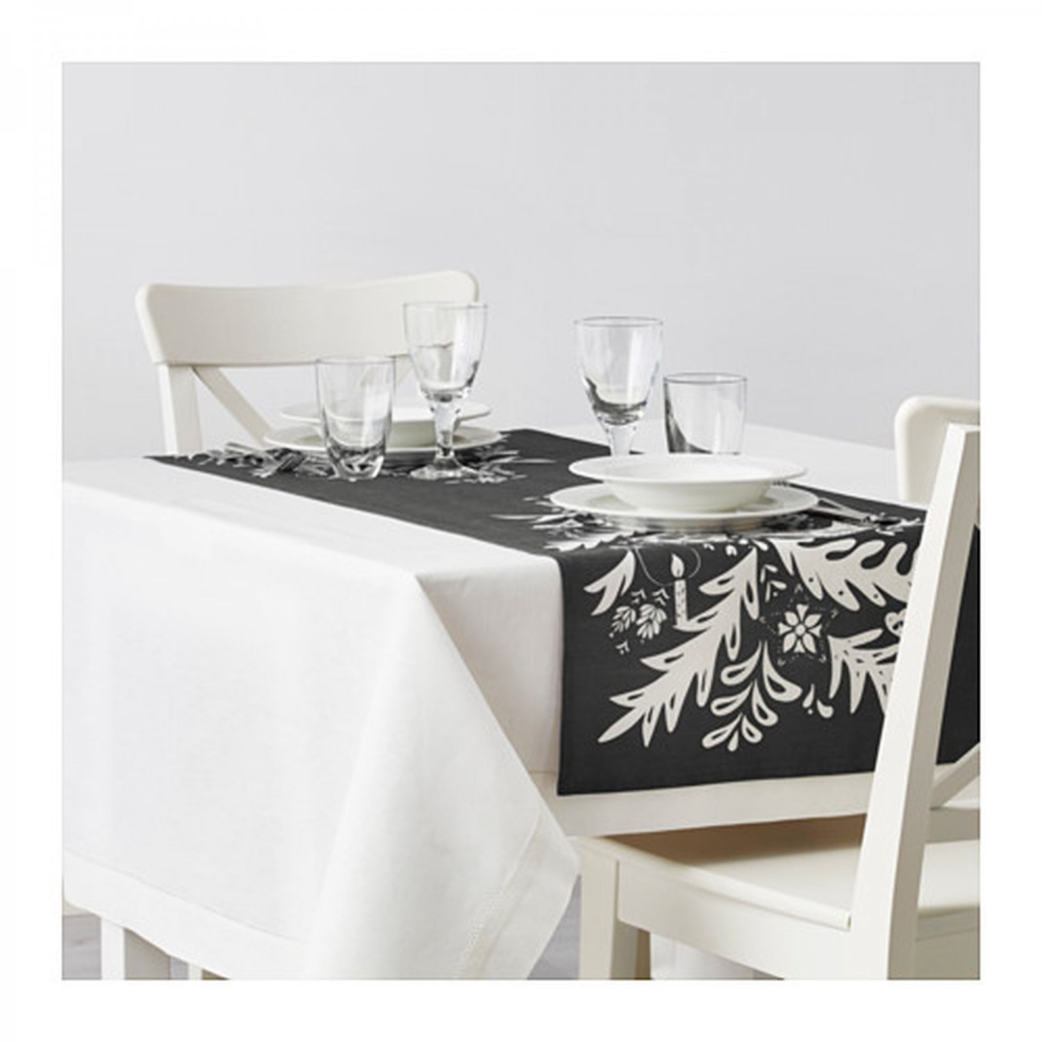 Ikea Vinter 2016 Teppich Ikea Vinter 2016 Table Runner Gray White Linen Blend 55 Quot X