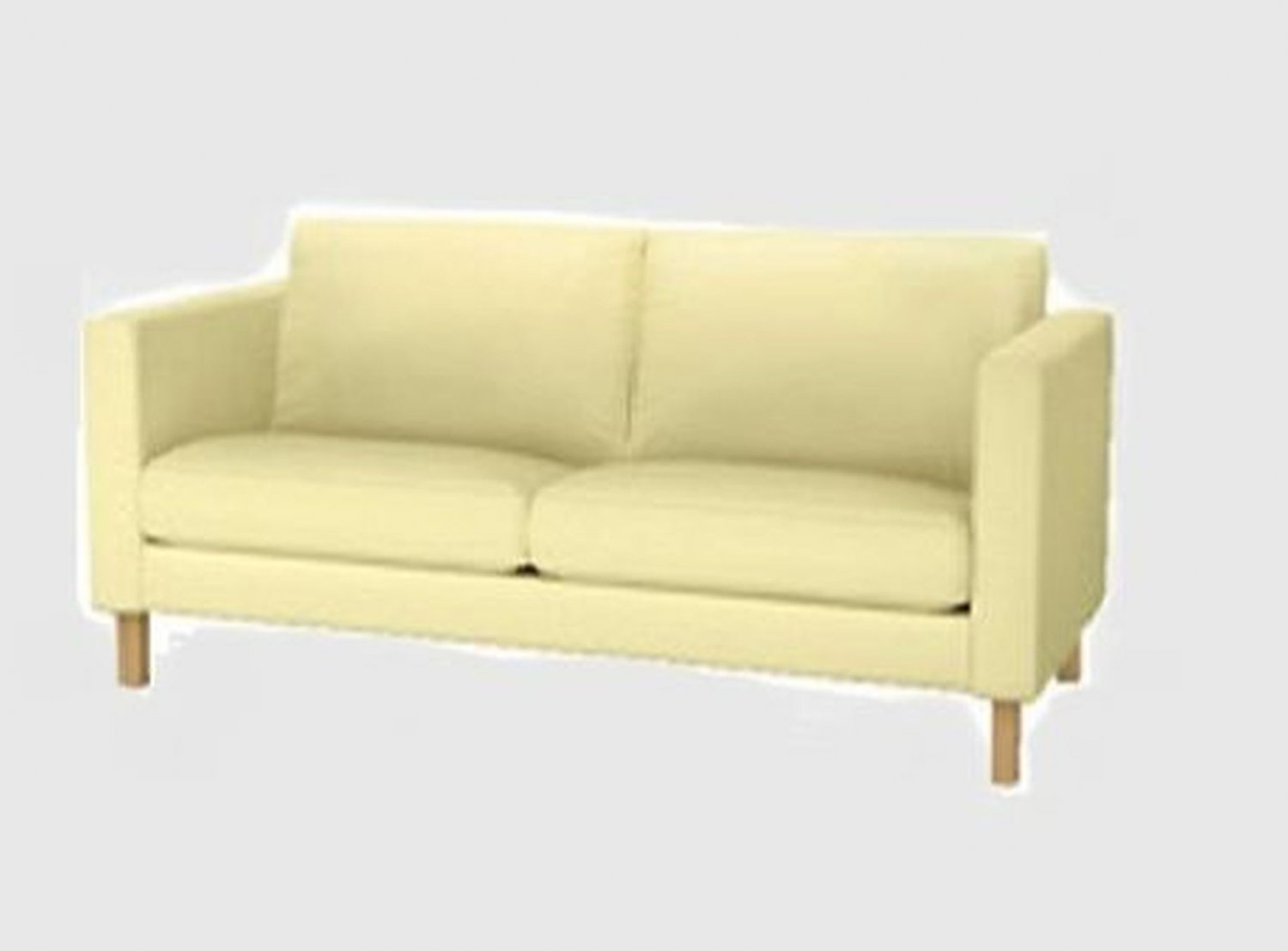 Ikea Loveseat Ikea Karlstad Loveseat Sofa Slipcover Cover Sivik Light Yellow 2 Seat Mid Century Modern