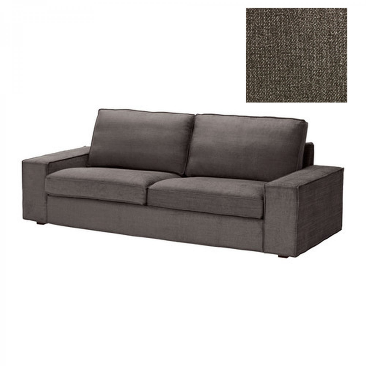 Kivik Sofa Ikea Test Ikea Kivik 3 Seat Sofa Slipcover Cover Tullinge Gray Brown