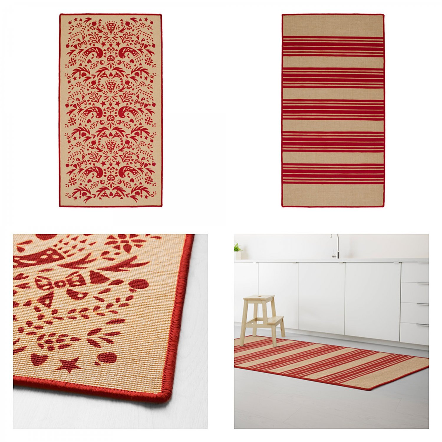 Ikea Vinter 2016 Teppich Ikea Vinter 2016 Red Striped Tolle Pattern Rug Area Throw