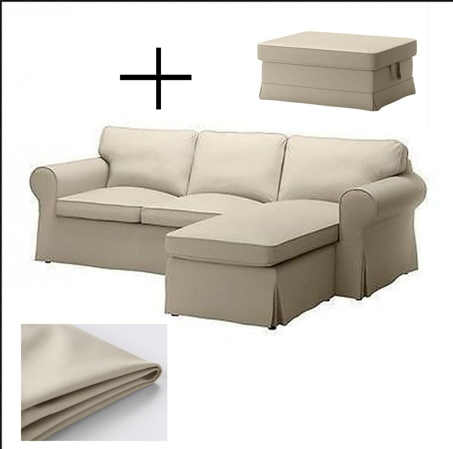 Ikea Bezüge Sofa Ikea Ektorp Loveseat Sofa W Chaise And Footstool Ottoman