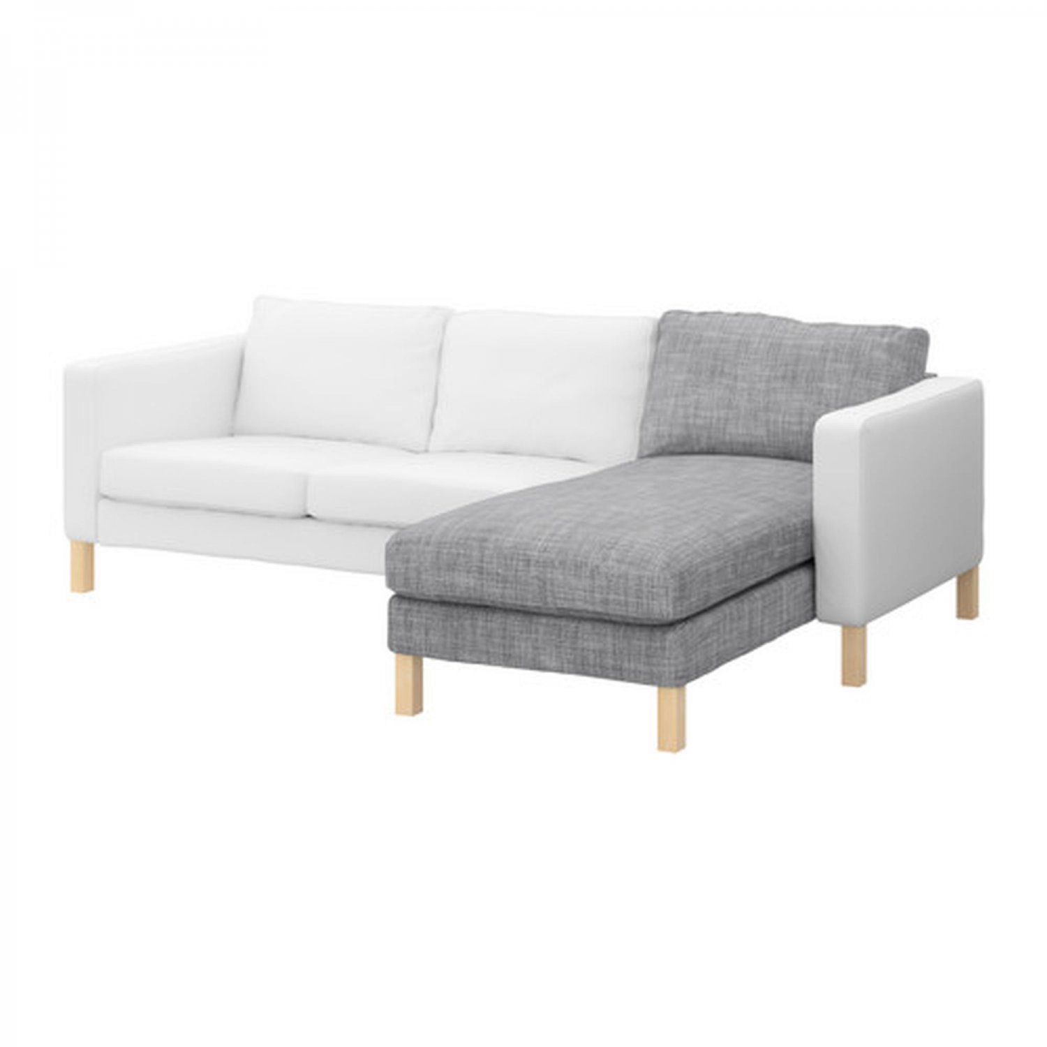 Ikea Sofas Chaise Longue Ikea Karlstad Add-on Chaise Longue Slipcover Lounge Cover