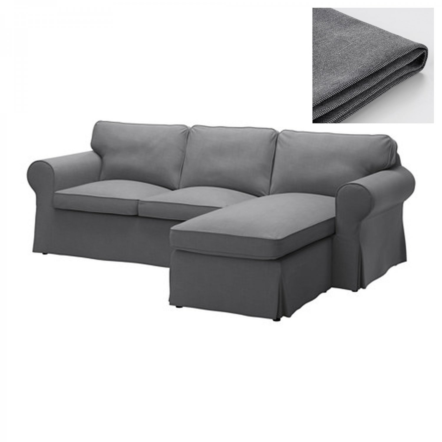 Ikea Loveseat Ikea Ektorp Loveseat Sofa W Chaise Slipcover 3 Seat Sectional Sofa Cover Nordvalla Dark Gray Grey