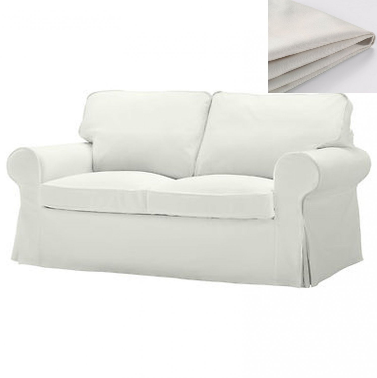 Loveseat Ikea Ikea Ektorp 2 Seat Sofa Slipcover Loveseat Cover Blekinge White Cotton