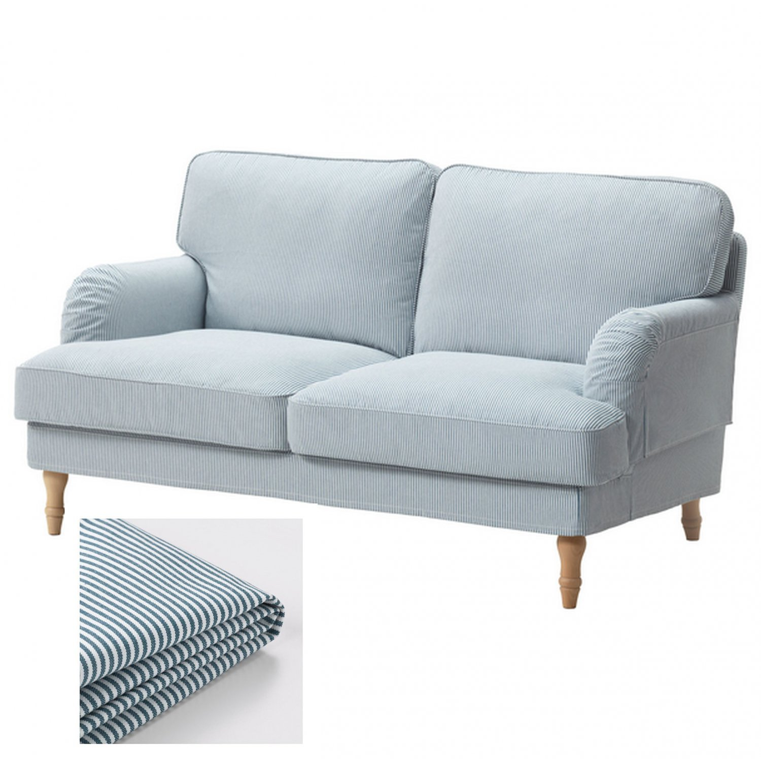 Ikea Loveseat Ikea Stocksund 2 Seat Sofa Slipcover Loveseat Cover Remvallen Blue White Stripes