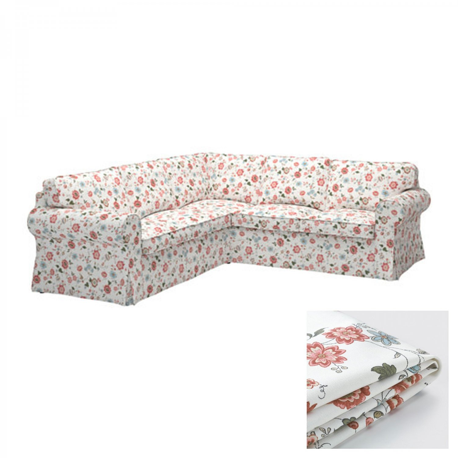 Ikea Sofa Round Rock Ikea Ektorp 2 2 Corner Sofa Cover Slipcover Videslund Multi Floral 4 Seat Sectional Cover