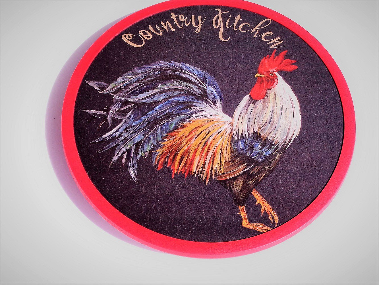 Red Rooster Coffee Garden Valley Country Rooster Lazy Susan Wood