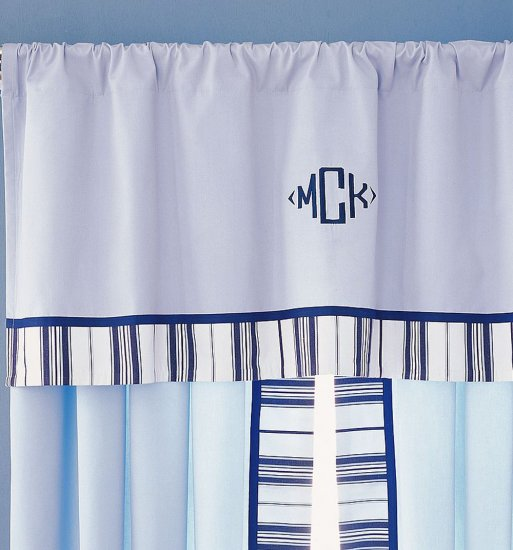 Pottery Barn Kids Pair Of Chase Panels Curtains Blue