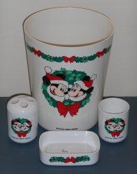 Mickey Minnie Mouse 4 Piece Plastic Bathroom Set Christmas ...
