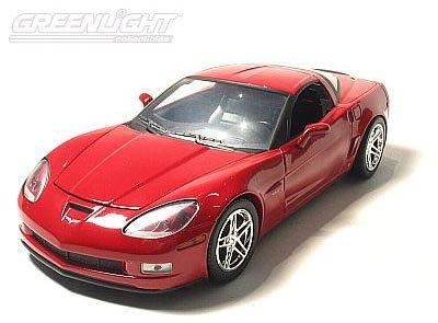 2007 Z06 Standard Features 2007 Chevrolet Corvette Overview Cars C6 2007 Z06 Victory Red Corvette 124 Scale Diecast