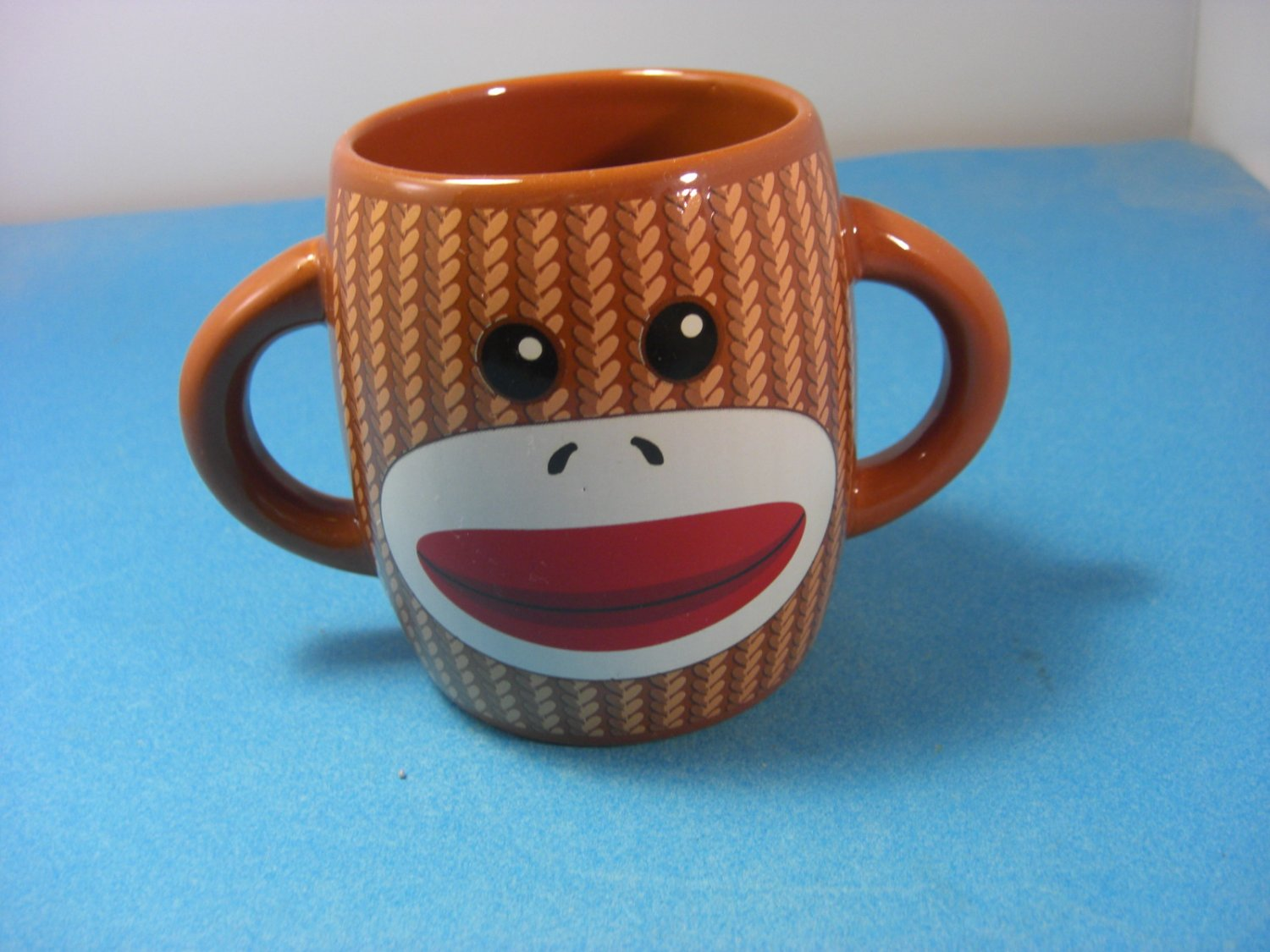 Double Handled Coffee Mugs Sock Monkey Double Handle Galerie Ceramic Mug Barrel Shaped