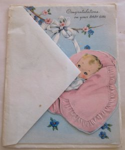 Gorgeous Vintage Greeting Card Congratulations On Your Baby Girl Congratulations On Your Baby Girl S Congratulations On Your Baby Girl Islamic