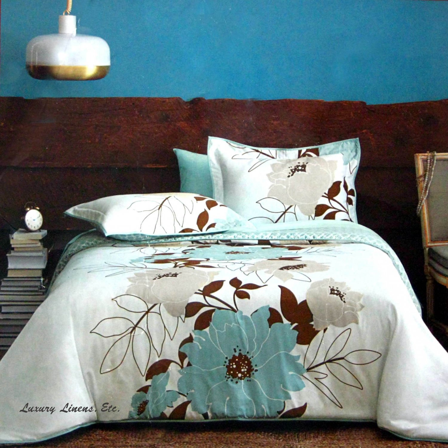 Brown And Teal Bedroom Dwell Studio Flora Teal Blue Brown Gray Comforter Set Full