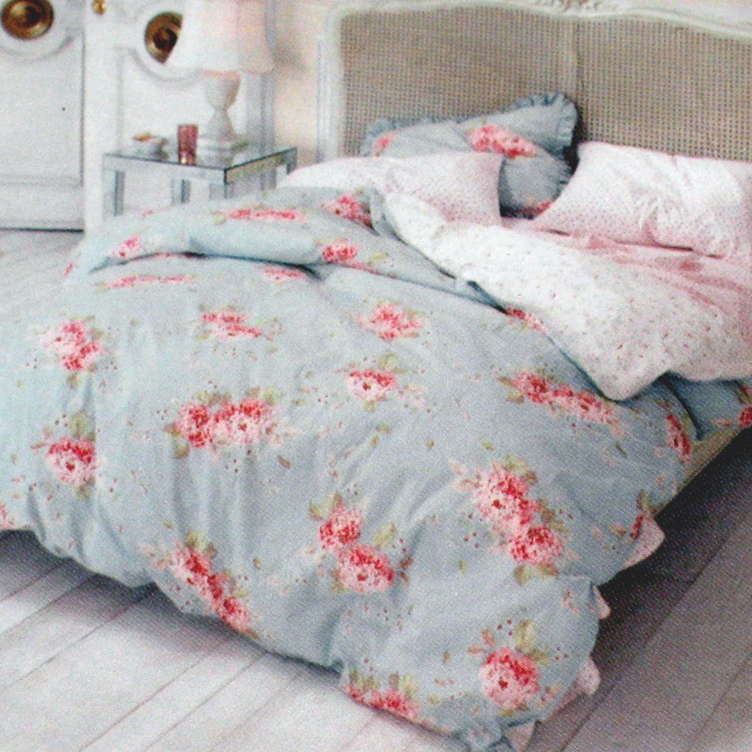 Bettwäsche Shabby Simply Shabby Chic Hydrangea Rose King Duvet No Shams