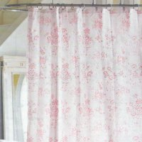 Simply Shabby Chic PINK FLORAL TOILE Cottage Cabbage Rose ...