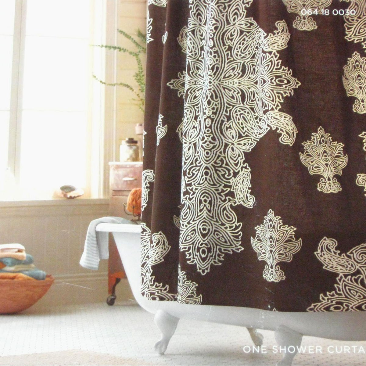 Brown Shower Curtain Target Target Home Brown Medallion Fabric Shower Curtain
