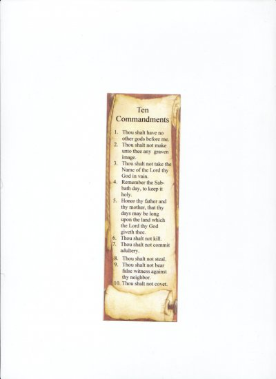 Bulk Jewelry To Sell Ten Commandments Bookmark