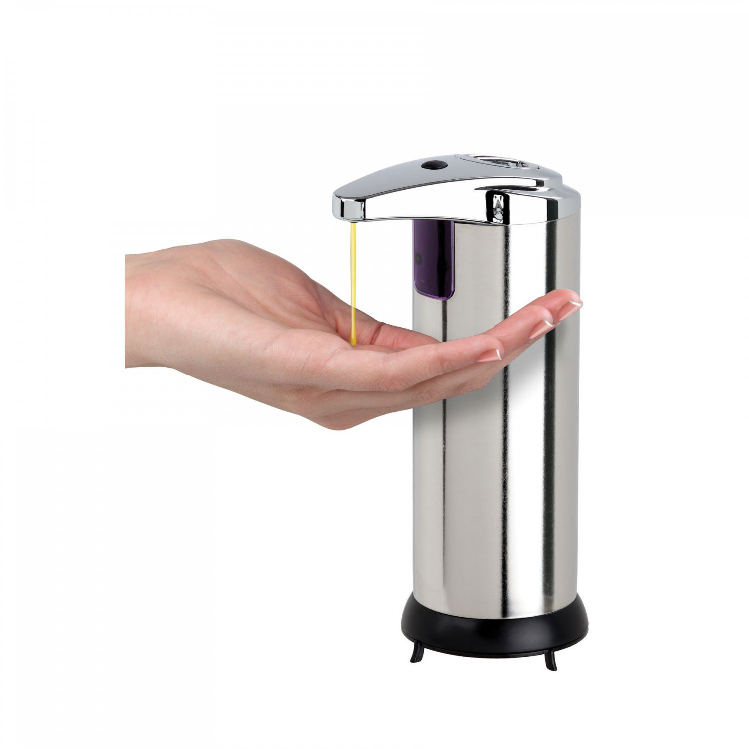 Black Automatic Soap Dispenser Touchless Automatic Handsfree Soap Dispenser Chrome