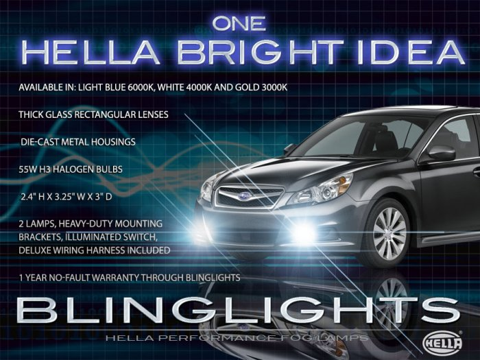 new! 2010 2011 subaru legacy outback fog light kit auto parts