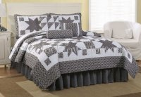 7PC Black & White Western Star KING Comforter Set CQS7758BW7K