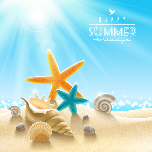 Summer holiday ocean backgrounds art vector 03 free Free download