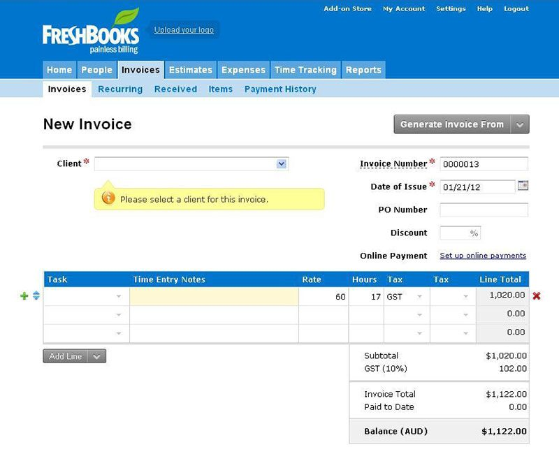 FreshBooks Techie Tips How To Send Invoices In Just A Few Minutes