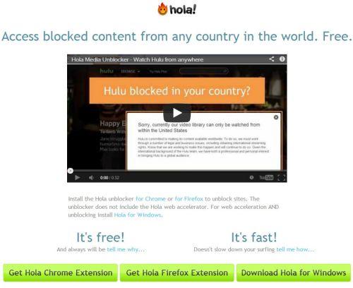Hola' promete acesso aos serviços restrito por países da web (Foto