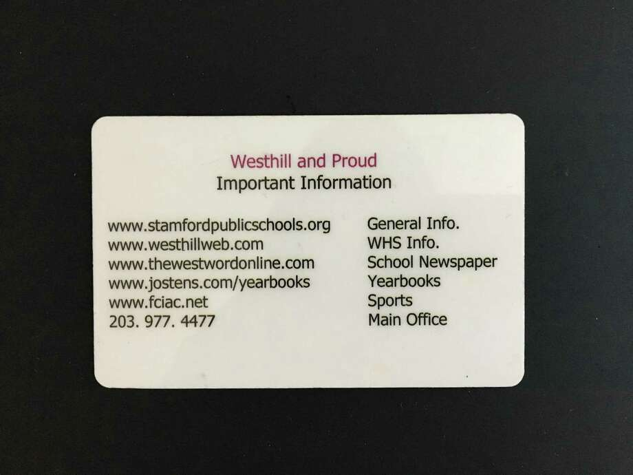 Westhill student adds suicide prevention number to ID cards